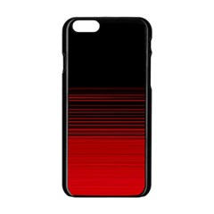 Abstract Of Red Horizontal Lines Apple Iphone 6/6s Black Enamel Case