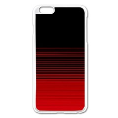 Abstract Of Red Horizontal Lines Apple Iphone 6 Plus/6s Plus Enamel White Case