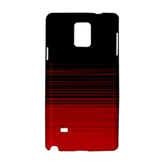 Abstract Of Red Horizontal Lines Samsung Galaxy Note 4 Hardshell Case