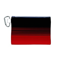Abstract Of Red Horizontal Lines Canvas Cosmetic Bag (m)