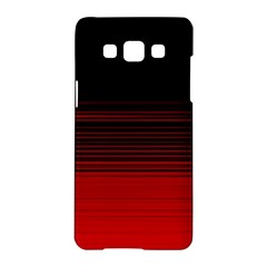 Abstract Of Red Horizontal Lines Samsung Galaxy A5 Hardshell Case