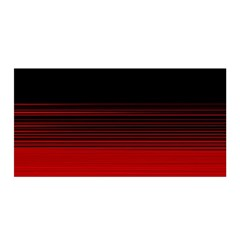 Abstract Of Red Horizontal Lines Satin Wrap