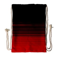 Abstract Of Red Horizontal Lines Drawstring Bag (large)