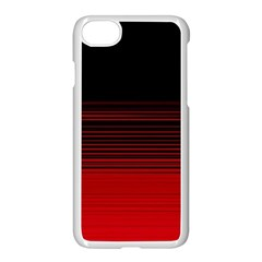 Abstract Of Red Horizontal Lines Apple Iphone 7 Seamless Case (white)