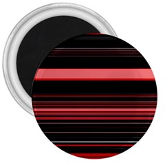 Abstract Of Red Horizontal Lines 3  Magnets
