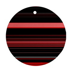 Abstract Of Red Horizontal Lines Ornament (round)