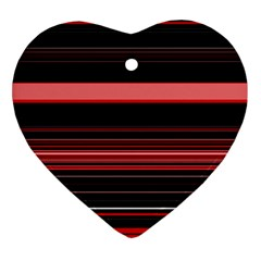 Abstract Of Red Horizontal Lines Ornament (heart)