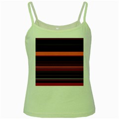 Abstract Of Red Horizontal Lines Green Spaghetti Tank