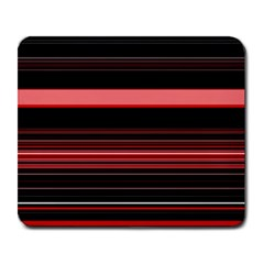 Abstract Of Red Horizontal Lines Large Mousepads