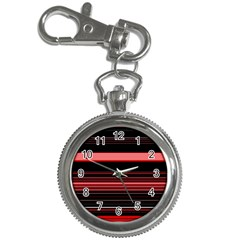 Abstract Of Red Horizontal Lines Key Chain Watches