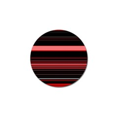Abstract Of Red Horizontal Lines Golf Ball Marker (4 Pack)