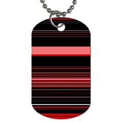 Abstract Of Red Horizontal Lines Dog Tag (two Sides)