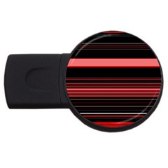 Abstract Of Red Horizontal Lines Usb Flash Drive Round (2 Gb)