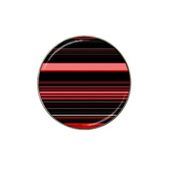 Abstract Of Red Horizontal Lines Hat Clip Ball Marker (4 Pack)