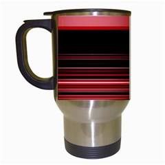 Abstract Of Red Horizontal Lines Travel Mugs (white)