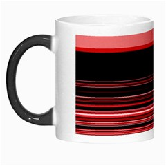 Abstract Of Red Horizontal Lines Morph Mugs