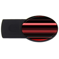 Abstract Of Red Horizontal Lines Usb Flash Drive Oval (4 Gb)