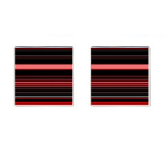 Abstract Of Red Horizontal Lines Cufflinks (Square)