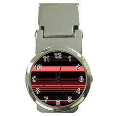 Abstract Of Red Horizontal Lines Money Clip Watches