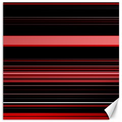 Abstract Of Red Horizontal Lines Canvas 16  X 16