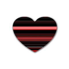 Abstract Of Red Horizontal Lines Heart Coaster (4 pack)