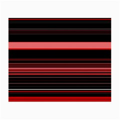 Abstract Of Red Horizontal Lines Small Glasses Cloth (2 Side)