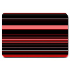 Abstract Of Red Horizontal Lines Large Doormat