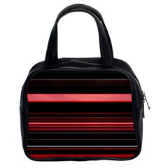 Abstract Of Red Horizontal Lines Classic Handbags (2 Sides)