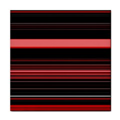 Abstract Of Red Horizontal Lines Face Towel