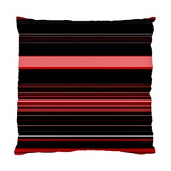 Abstract Of Red Horizontal Lines Standard Cushion Case (two Sides)