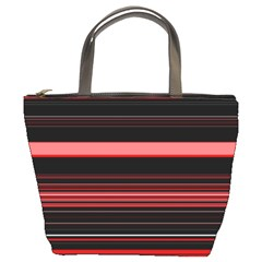 Abstract Of Red Horizontal Lines Bucket Bags