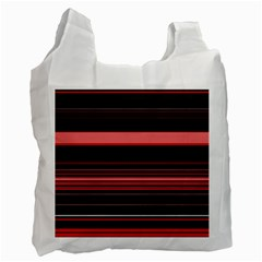 Abstract Of Red Horizontal Lines Recycle Bag (one Side)