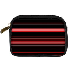 Abstract Of Red Horizontal Lines Digital Camera Cases