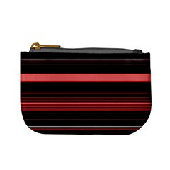 Abstract Of Red Horizontal Lines Mini Coin Purses
