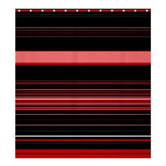 Abstract Of Red Horizontal Lines Shower Curtain 66  X 72  (large)