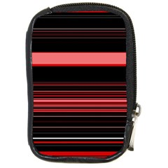 Abstract Of Red Horizontal Lines Compact Camera Cases