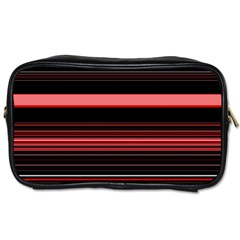 Abstract Of Red Horizontal Lines Toiletries Bags 2 Side