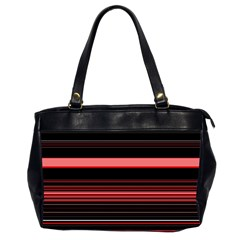 Abstract Of Red Horizontal Lines Office Handbags (2 Sides)