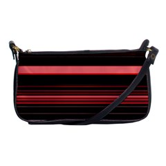 Abstract Of Red Horizontal Lines Shoulder Clutch Bags