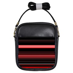 Abstract Of Red Horizontal Lines Girls Sling Bags