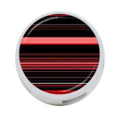 Abstract Of Red Horizontal Lines 4 Port Usb Hub (two Sides)