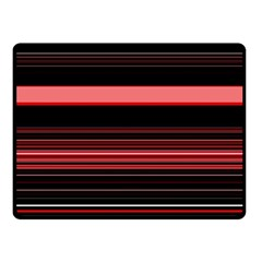 Abstract Of Red Horizontal Lines Fleece Blanket (small)