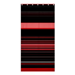 Abstract Of Red Horizontal Lines Shower Curtain 36  X 72  (stall)