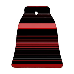 Abstract Of Red Horizontal Lines Ornament (bell)
