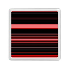 Abstract Of Red Horizontal Lines Memory Card Reader (square)