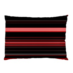 Abstract Of Red Horizontal Lines Pillow Case (two Sides)