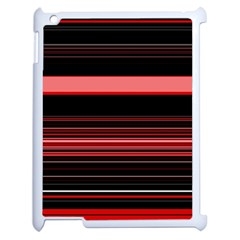 Abstract Of Red Horizontal Lines Apple Ipad 2 Case (white)