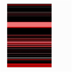 Abstract Of Red Horizontal Lines Large Garden Flag (two Sides)