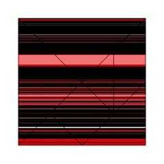 Abstract Of Red Horizontal Lines Acrylic Tangram Puzzle (6  X 6 )