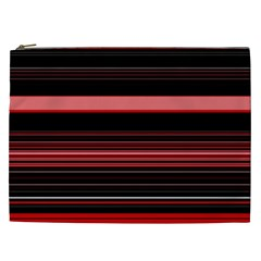 Abstract Of Red Horizontal Lines Cosmetic Bag (xxl)